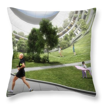 Throw Pillow featuring the digital art Kalpana 2 Recreation by Bryan Versteeg
