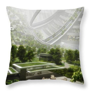 Throw Pillow featuring the digital art Kalpana One Houseing by Bryan Versteeg