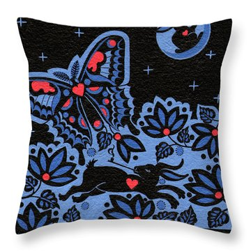 Throw Pillow featuring the painting Kamwatisiwin - Gentleness In A Persons Spirit by Chholing Taha