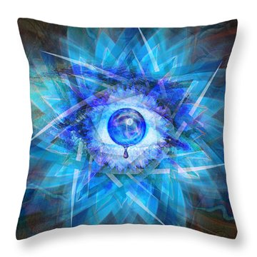 Throw Pillow featuring the digital art Kanaloa by Kenneth Armand Johnson