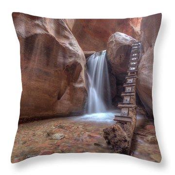 Kanarra Creek Falls Throw Pillow