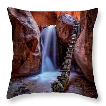 Kanarraville Falls Throw Pillow