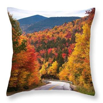 Kancamagus Highway Throw Pillow
