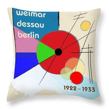 Throw Pillow featuring the digital art Kandinsky 2 by Chuck Mountain