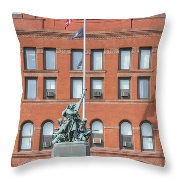 Kane County Courthouse Throw Pillow