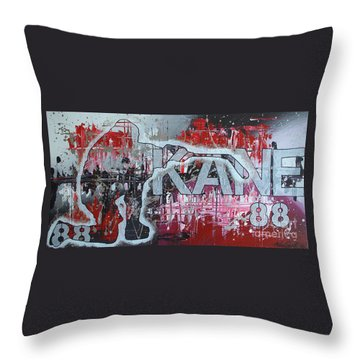 Throw Pillow featuring the painting Kaner 88 by Melissa Goodrich