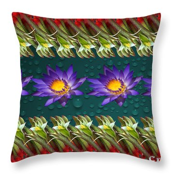 Kangaroo Paw Heaven Throw Pillow