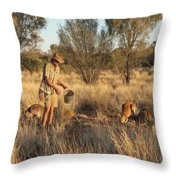 Kangaroo Sanctuary Throw Pillow