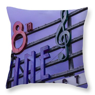 Kansas City 18th And Vine Sign Throw Pillow