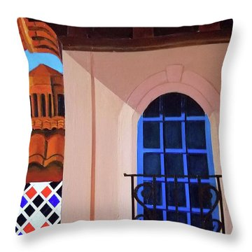 Kansas City Country Club Plaza Throw Pillow