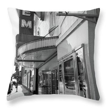 Throw Pillow featuring the photograph Kansas City - Gem Theater 2 Bw  by Frank Romeo