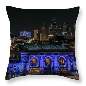 Kansas City In Royal Blue Throw Pillow