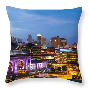 Kansas City Night Sky Throw Pillow