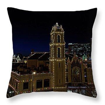 Kansas City Plaza Lights Throw Pillow
