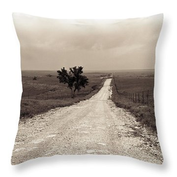 Kansas Country Road Throw Pillow