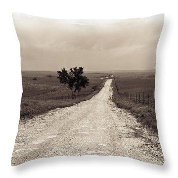 Kansas Country Road Throw Pillow