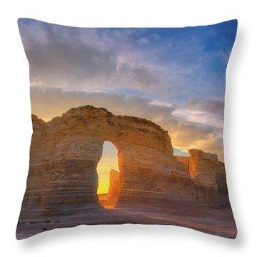 Kansas Gold Throw Pillow by Darren White