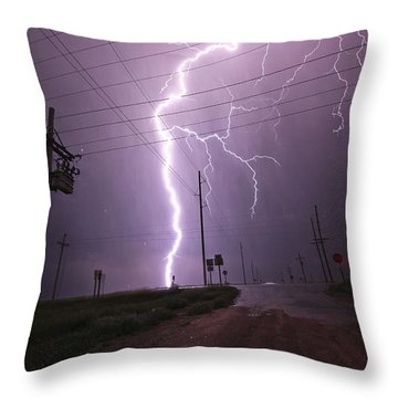 Kansas Lightning Throw Pillow