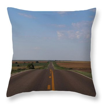 Kansas Road Throw Pillow