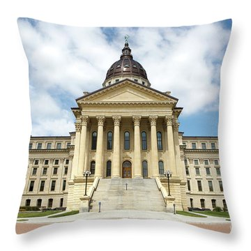 Kansas State Capitol Building Throw Pillow