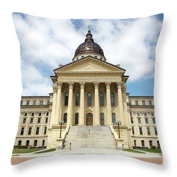 Kansas State Capitol Building Throw Pillow