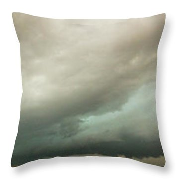Kansas Storm Chase Bust Day 001 Throw Pillow