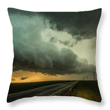 Kansas Storm Chase Bust Day 004 Throw Pillow