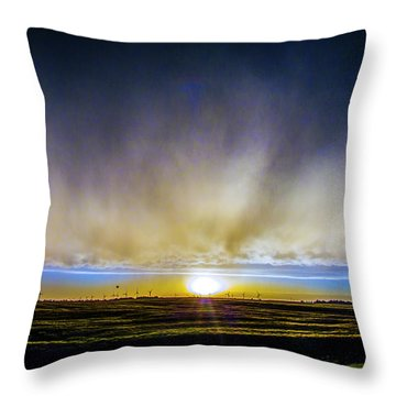 Kansas Storm Chase Bust Day 005 Throw Pillow