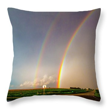 Kansas Storm Chase Bust Day 007 Throw Pillow