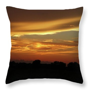 Kansas Summer Sunset Throw Pillow