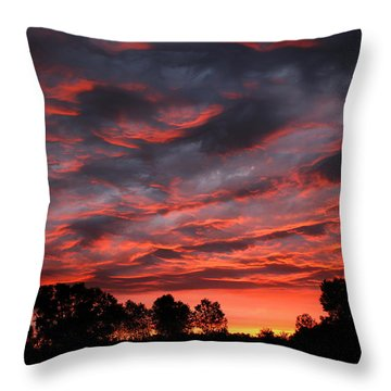 Kansas Sunrise Throw Pillow