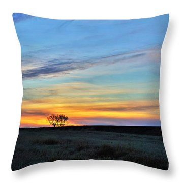 Kansas Sunrise1 Throw Pillow