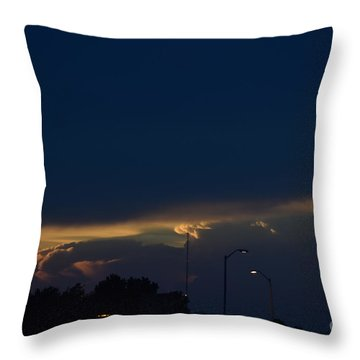 Kansas Sunset Angel Throw Pillow