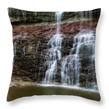 Kansas Waterfall 3 Throw Pillow