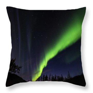 Kantishna Northern Lights In Denali National Park Throw Pillow