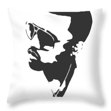 Kanye West Silhouette Throw Pillow by Dan Sproul