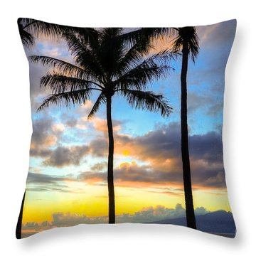 Throw Pillow featuring the photograph Kapalua Dream by Kelly Wade