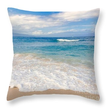 Kapukaulua Beach Maui Hawaii Throw Pillow