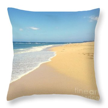 Kapukaulua Maui Hawaii Throw Pillow by Sharon Mau