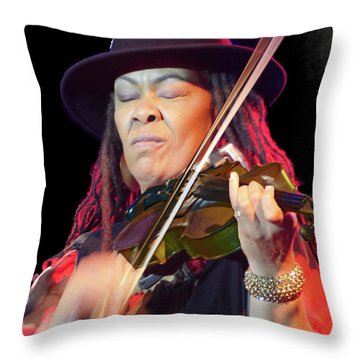 Karen Briggs 2017 Hub City Jazz Festival - In The Moment Throw Pillow