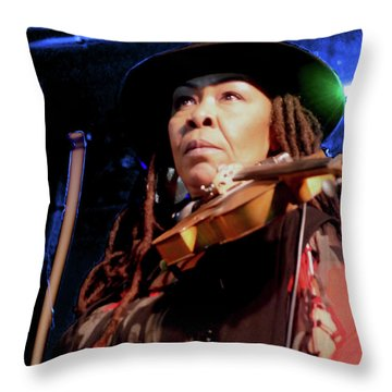 Karen Briggs 2017 Hub City Jazz Festival - Pause Throw Pillow