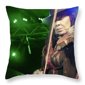 Karen Briggs 2017 Hub City Jazz Festival - Transcendant Throw Pillow