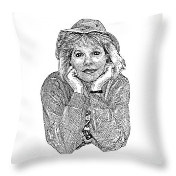 Karen Marie Throw Pillow by Dave Luebbert