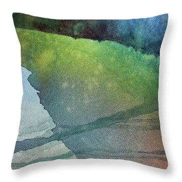 Throw Pillow featuring the painting Karen's Dream by Kris Parins