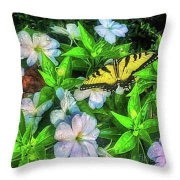 Karen's Garden Throw Pillow