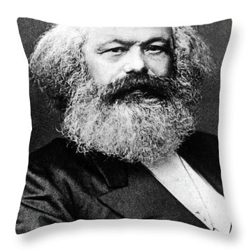 Karl Marx  German Politician Economist And Philosopher One Of The Authors Of Communist Pa Throw Pillow