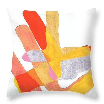 Karlheinz Stockhausen Tribute Falling Shapes Throw Pillow by Dick Sauer