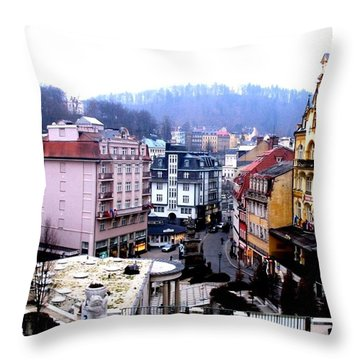 Throw Pillow featuring the photograph Karlovy Vary Cz by Michelle Dallocchio