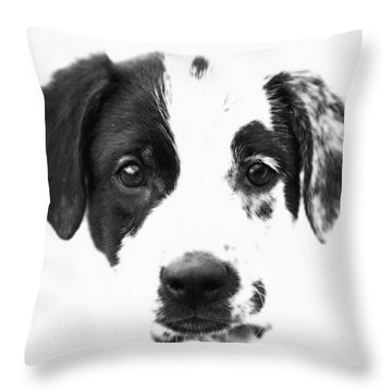 Karma Throw Pillow by Amanda Barcon