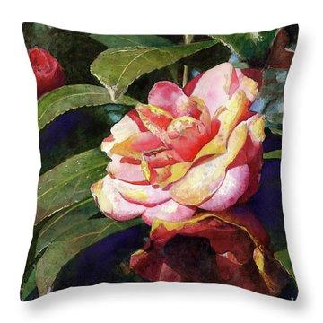 Karma Camellia Throw Pillow